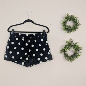 J.Crew Factory | Navy Polkadot Pull on Chino Short